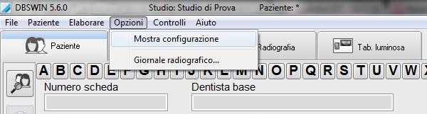 DBSWin Mostra Configurazione
